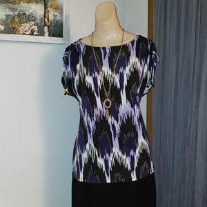 Michael Kors Boatneck Short Sleeve Shirt